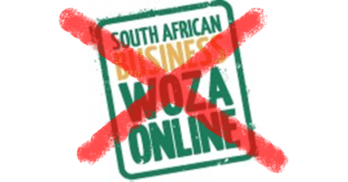 Woza Online Service Closed Down