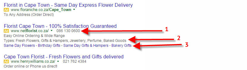 adwords florists cape town